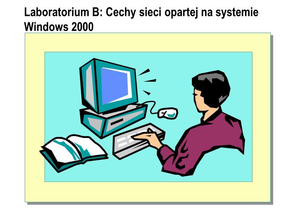 Laboratorium B: Cechy sieci opartej na systemie Windows 2000
