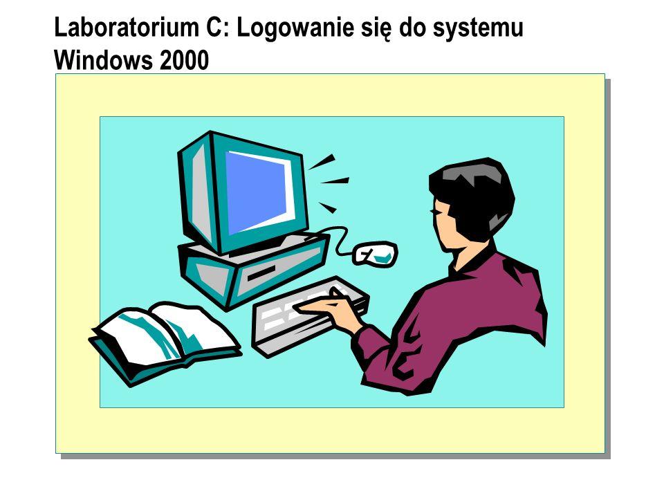 Laboratorium C: Logowanie się do systemu Windows 2000