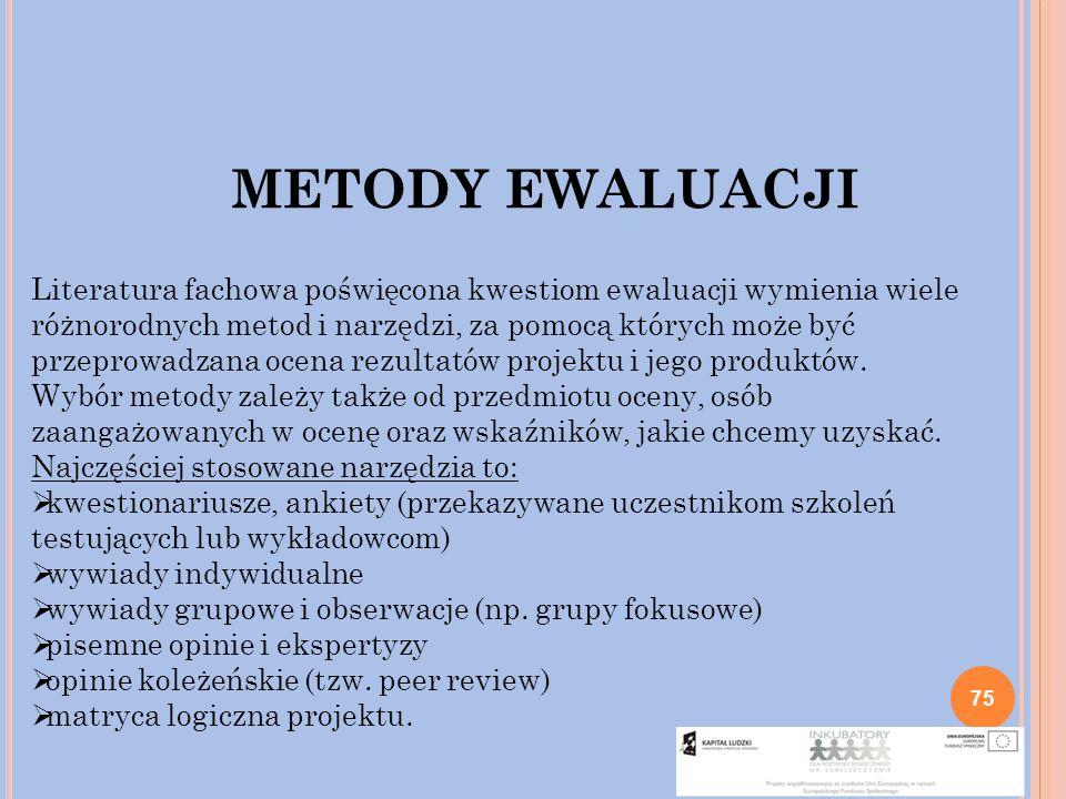 METODY EWALUACJI