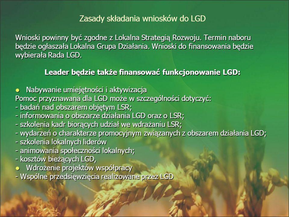 Zasady składania wniosków do LGD