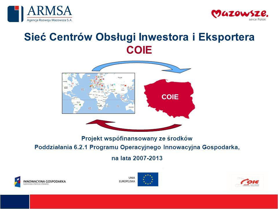 Sieć Centrów Obsługi Inwestora i Eksportera COIE