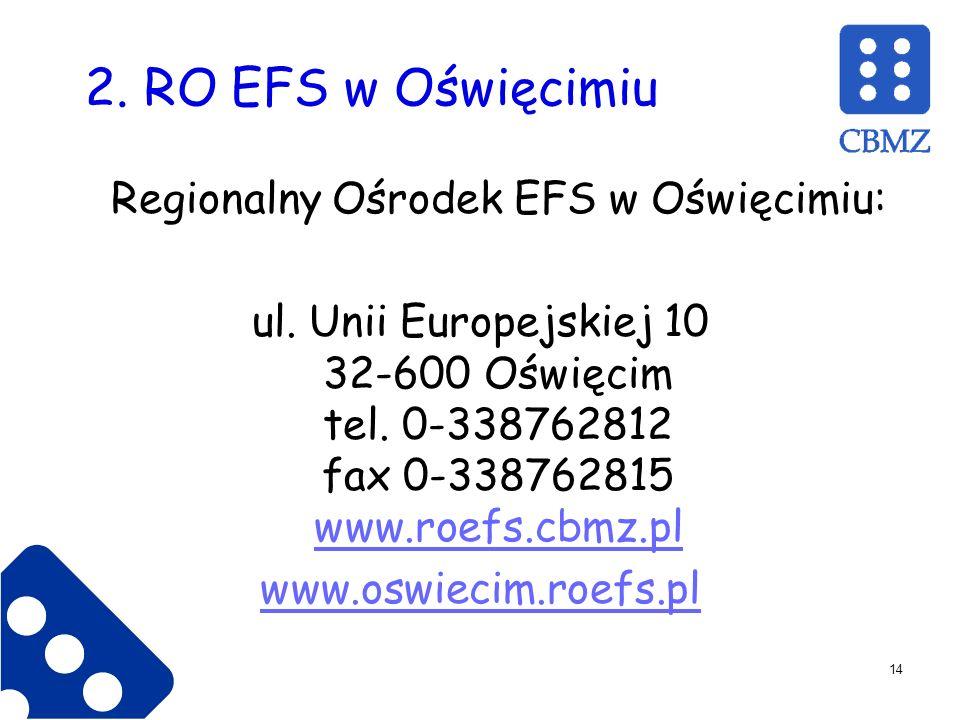 Regionalny Ośrodek EFS w Oświęcimiu: