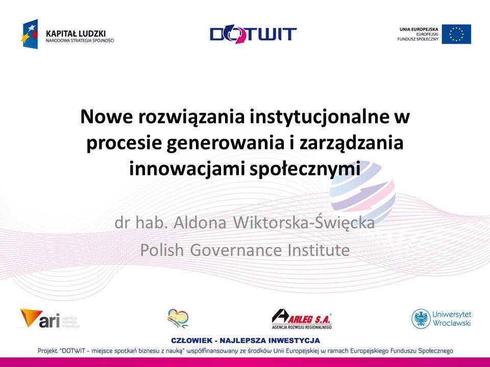 dr hab. Aldona Wiktorska-Święcka Polish Governance Institute