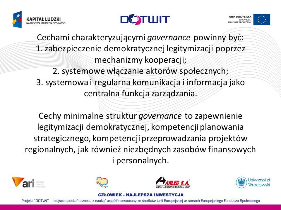 Cechami charakteryzującymi governance powinny być: 1