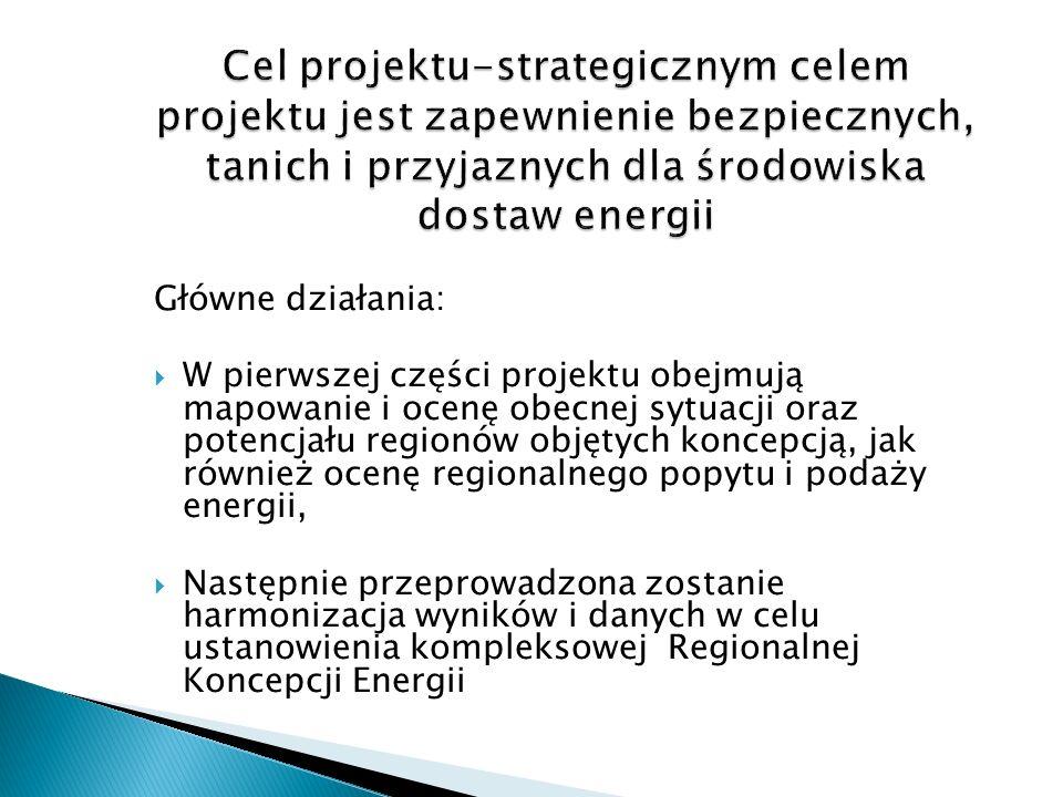 Cel projektu-strategicznym celem projektu jest zapewnienie bezpiecznych, tanich i przyjaznych dla środowiska dostaw energii