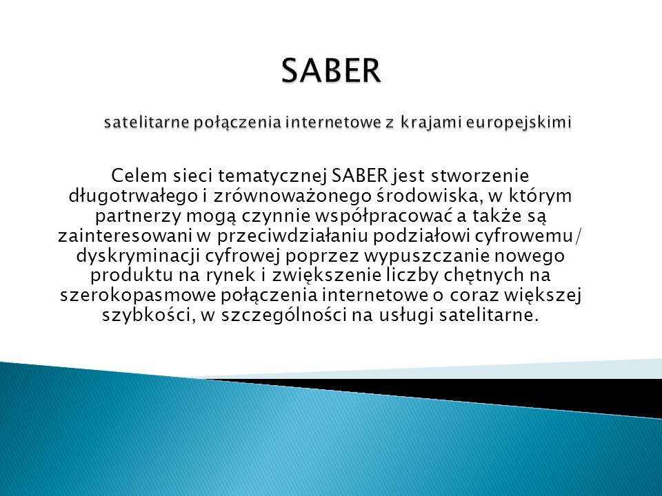 SABER satelitarne połączenia internetowe z krajami europejskimi