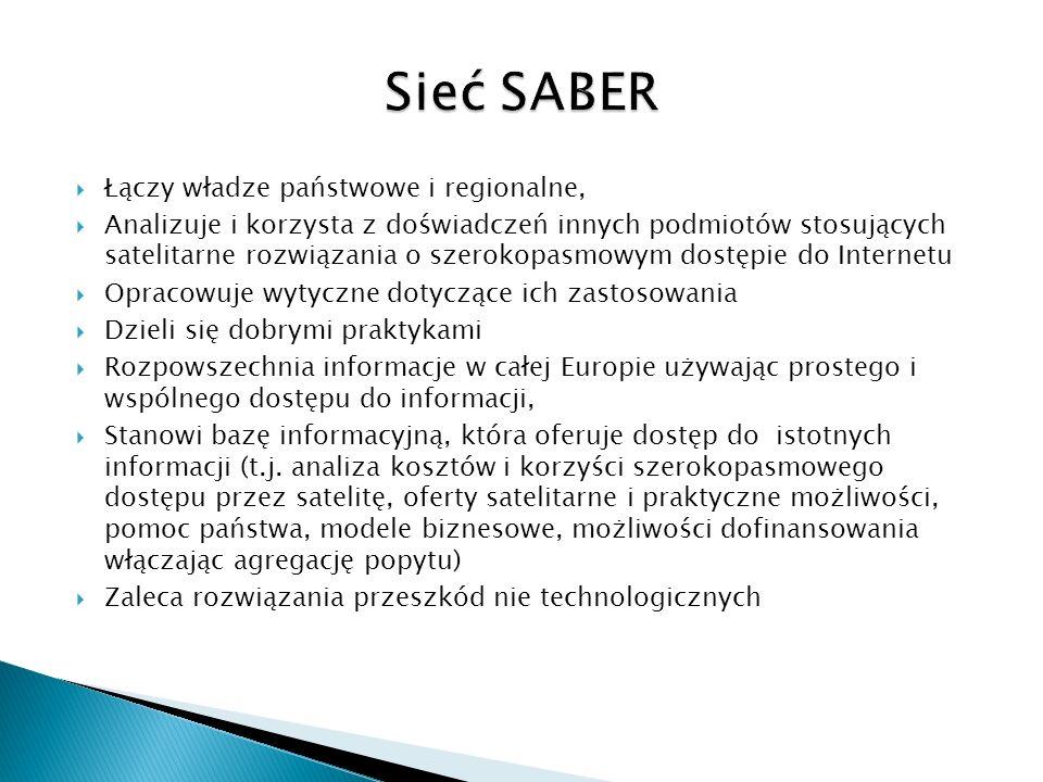 Sieć SABER Łączy władze państwowe i regionalne,