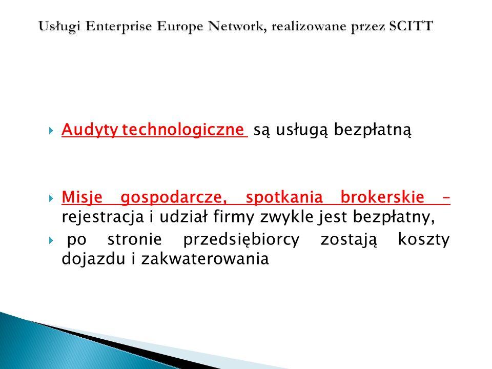 Usługi Enterprise Europe Network, realizowane przez SCITT