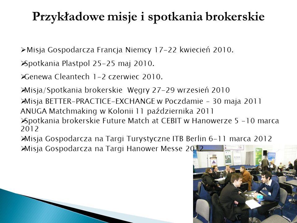 Przykładowe misje i spotkania brokerskie