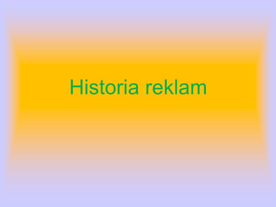 Historia reklam