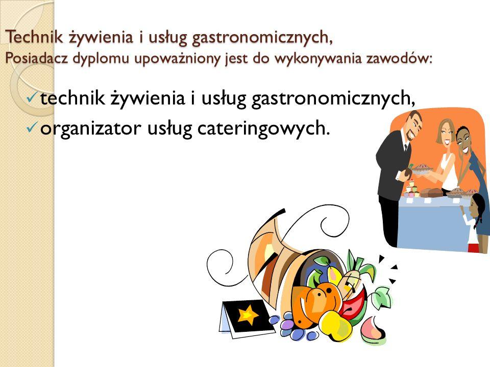 technik żywienia i usług gastronomicznych,