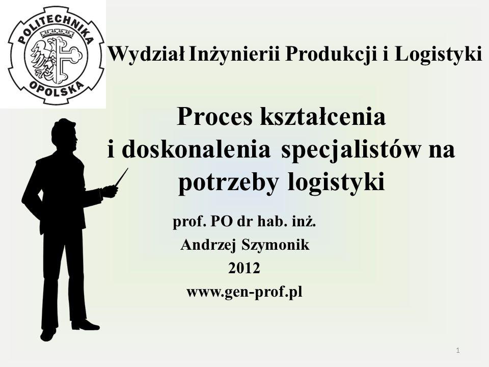 prof. PO dr hab. inż. Andrzej Szymonik 2012 www.gen-prof.pl