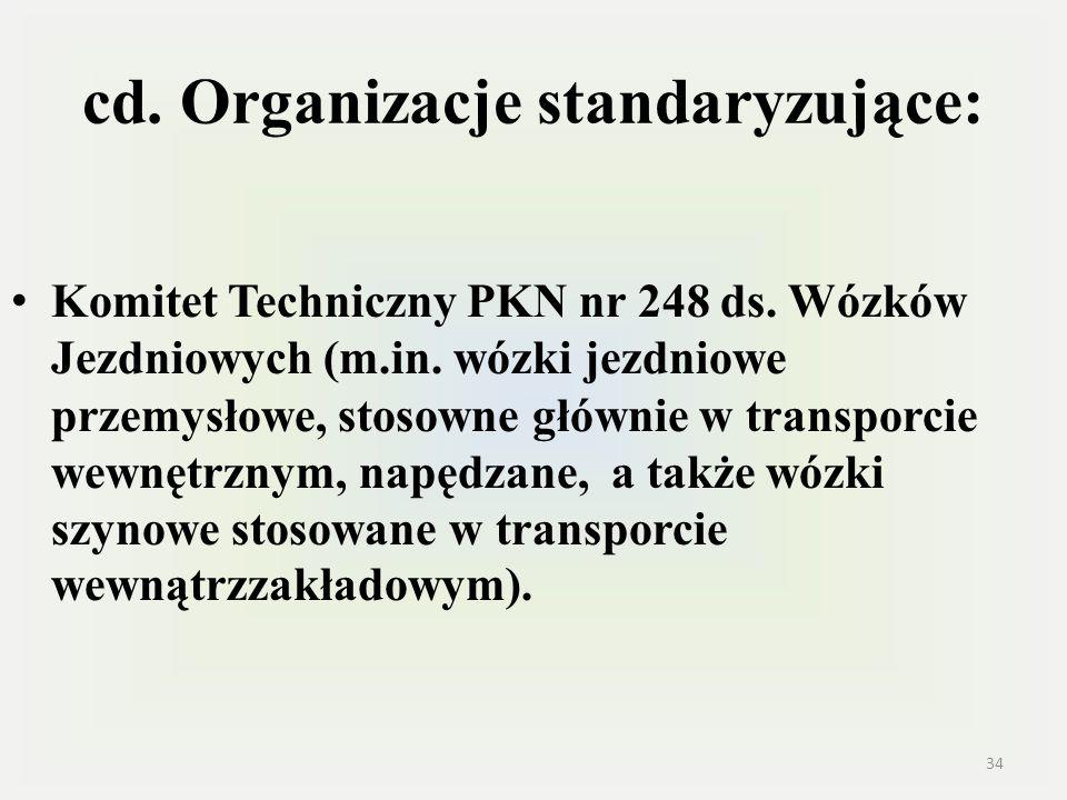 cd. Organizacje standaryzujące: