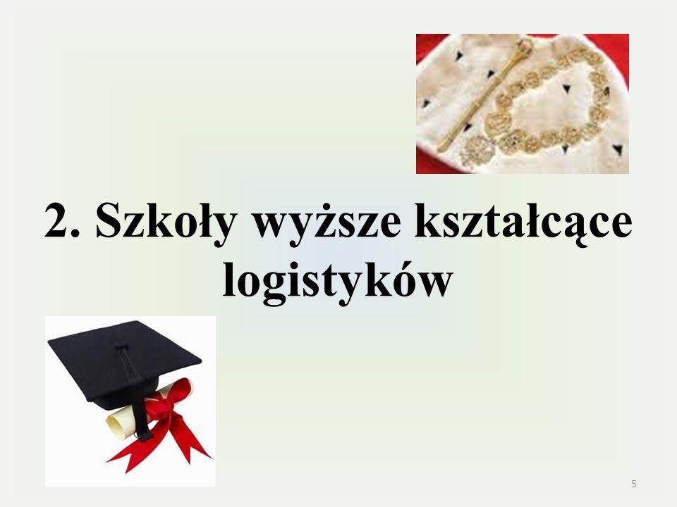 2. Szkoły wyższe kształcące logistyków