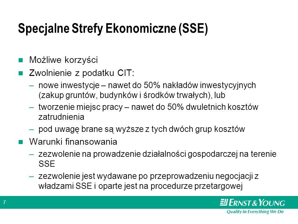 Specjalne Strefy Ekonomiczne (SSE)