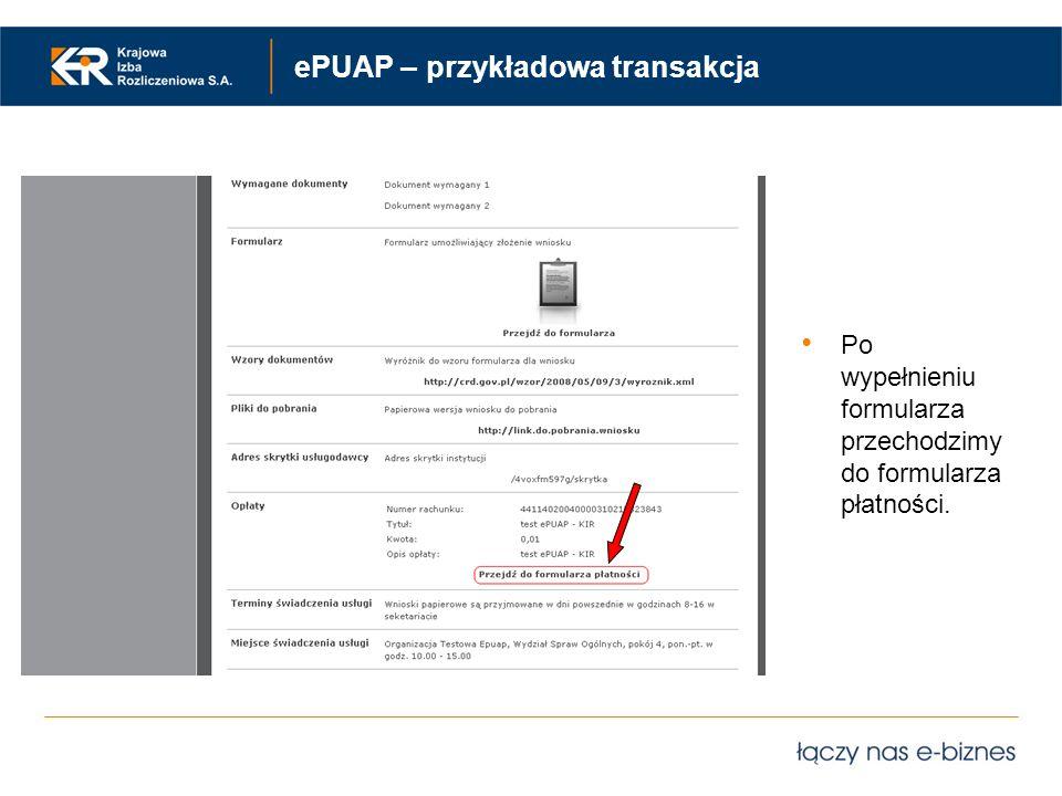 ePUAP – przykładowa transakcja