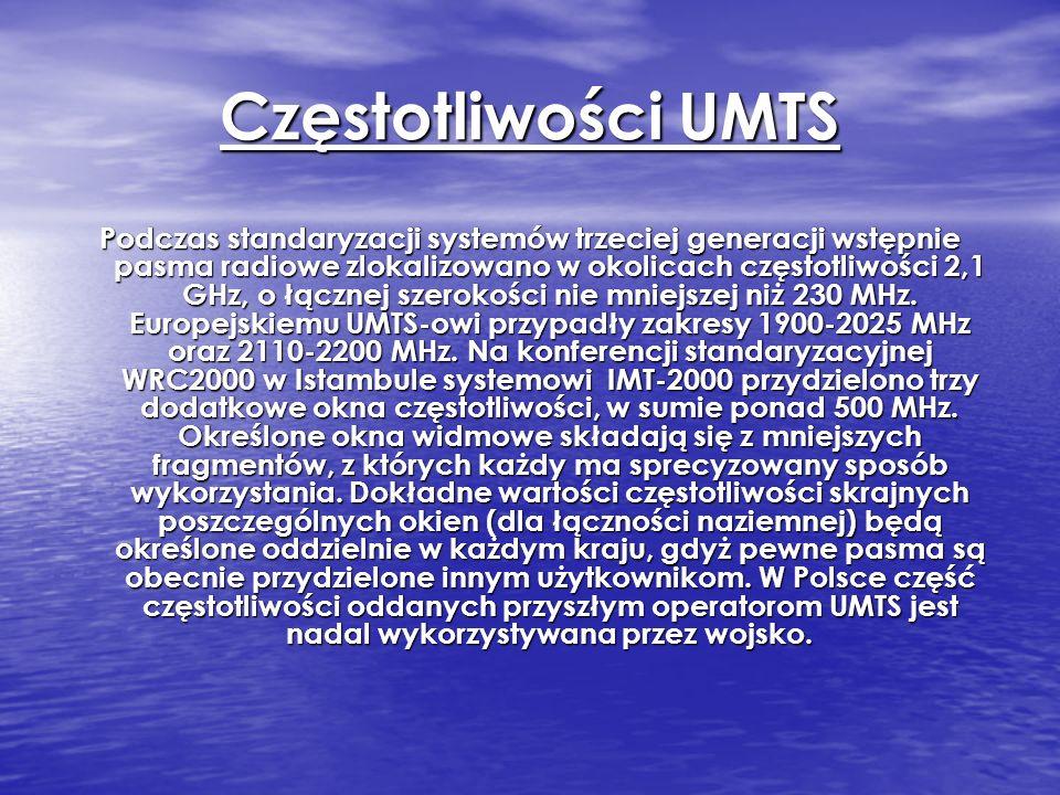 Częstotliwości UMTS