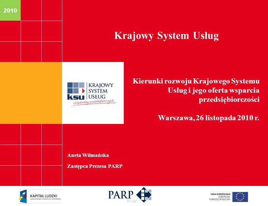 Krajowy System Usług Kierunki rozwoju Krajowego Systemu Usług i jego oferta wsparcia przedsiębiorczości.