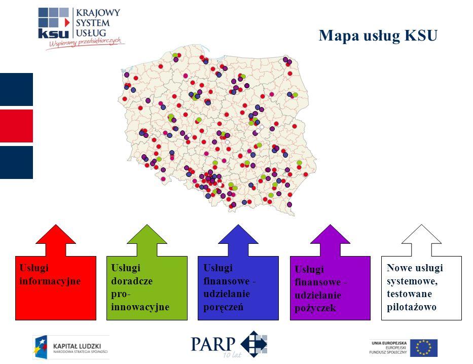 Mapa usług KSU Usługi finansowe - udzielanie pożyczek