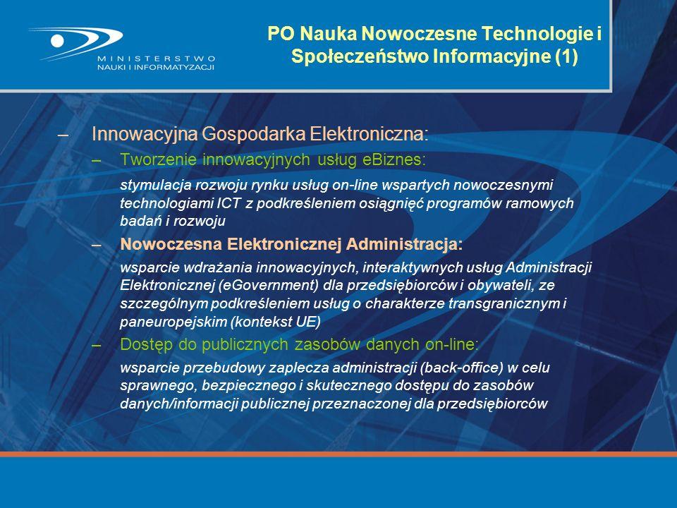 PO Nauka Nowoczesne Technologie i Społeczeństwo Informacyjne (1)