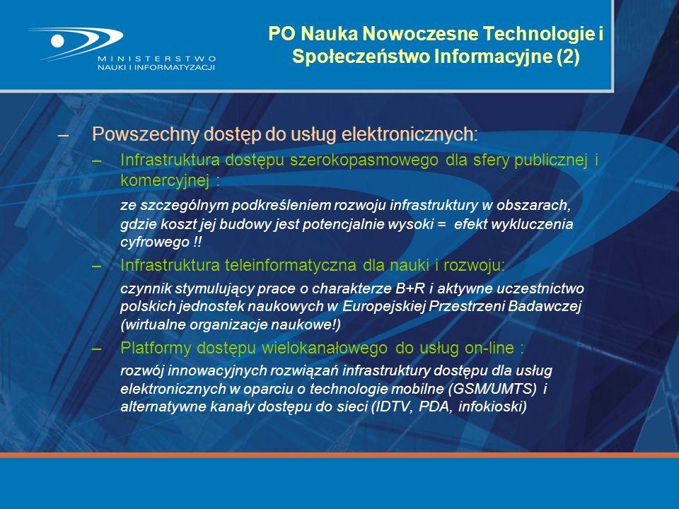 PO Nauka Nowoczesne Technologie i Społeczeństwo Informacyjne (2)
