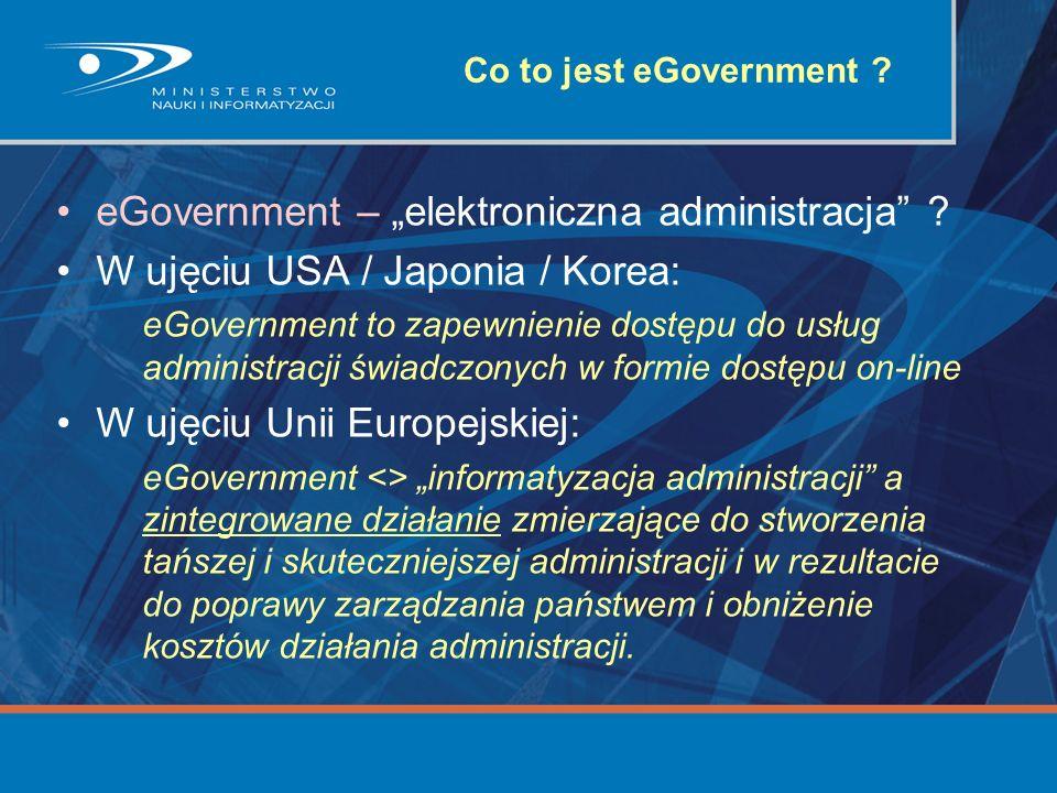 "eGovernment – ""elektroniczna administracja"