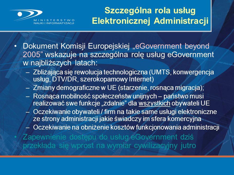 Szczególna rola usług Elektronicznej Administracji