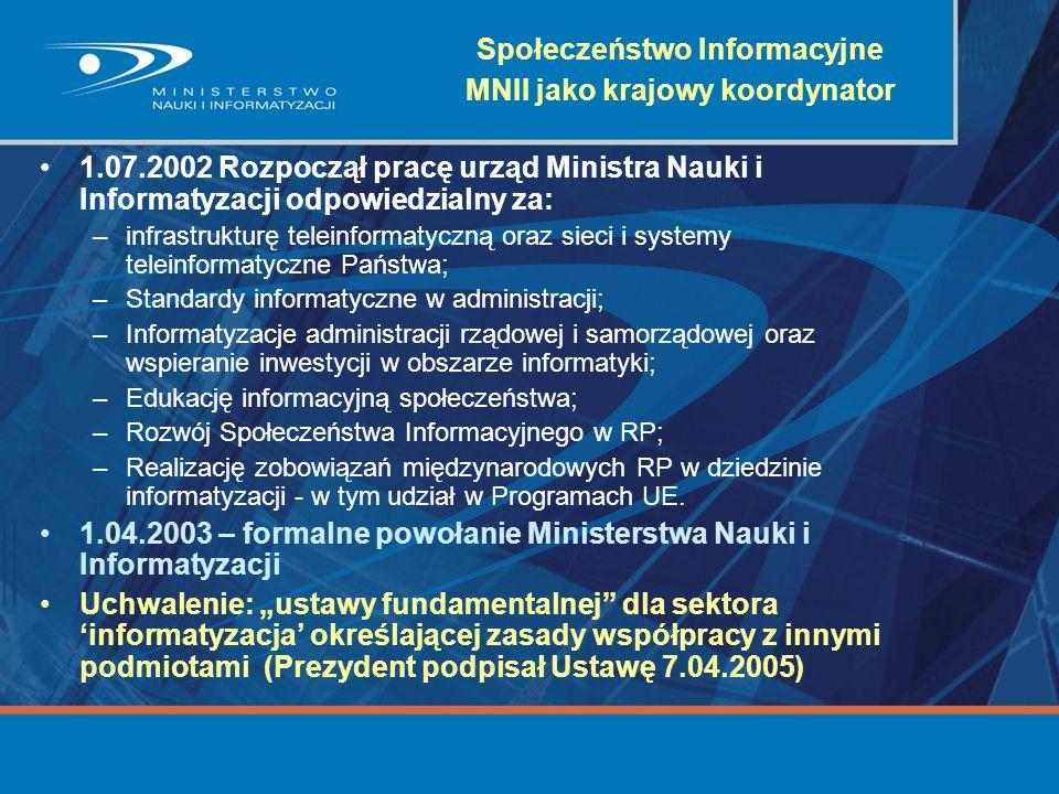 Społeczeństwo Informacyjne MNII jako krajowy koordynator