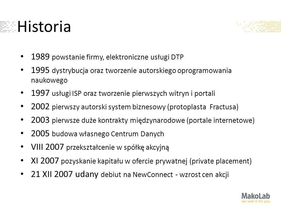 Historia 1989 powstanie firmy, elektroniczne usługi DTP