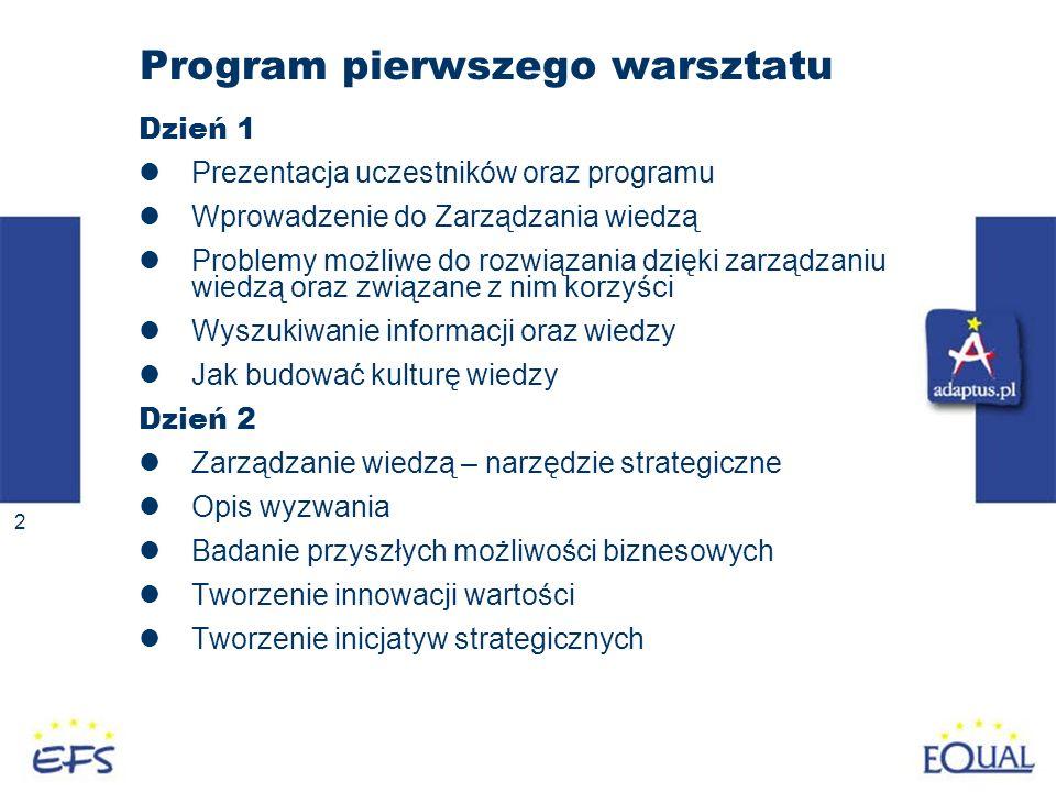 Program pierwszego warsztatu