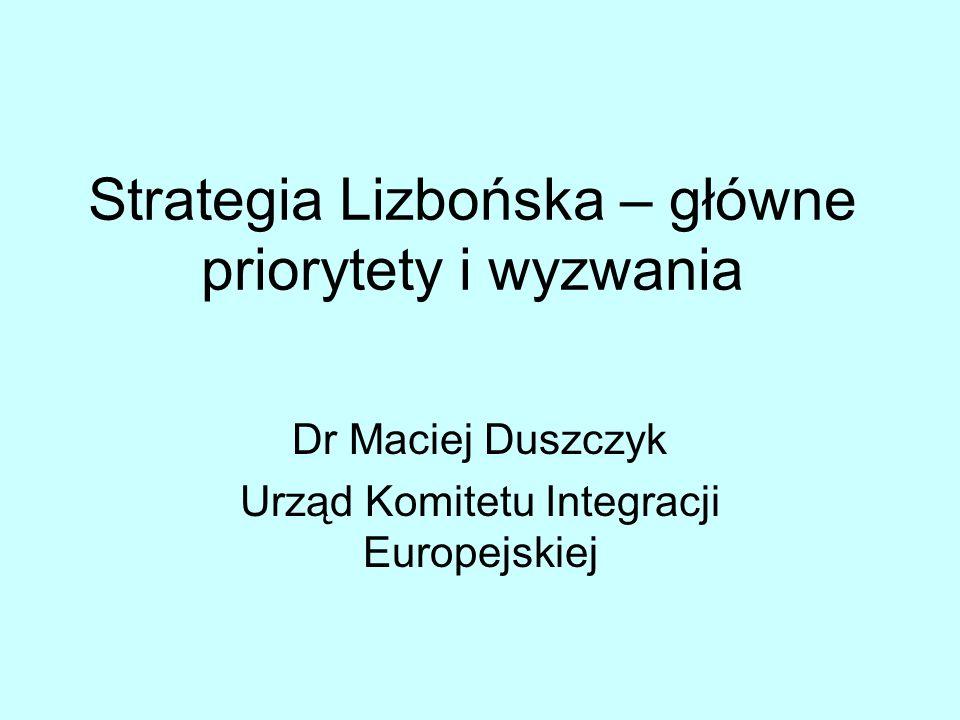 Strategia Lizbońska – główne priorytety i wyzwania