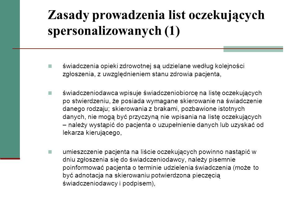 Zasady prowadzenia list oczekujących spersonalizowanych (1)