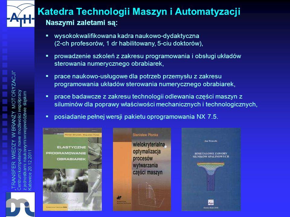 Katedra Technologii Maszyn i Automatyzacji