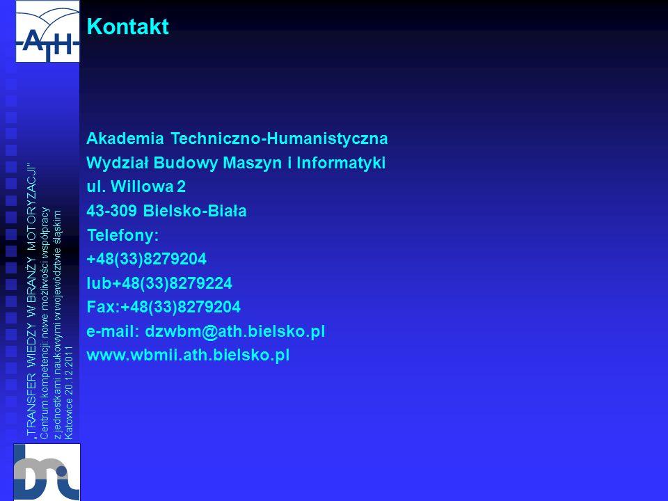 Kontakt Akademia Techniczno-Humanistyczna
