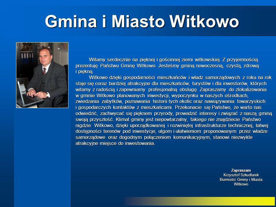 Zapraszam Krzysztof Szkudlarek Burmistrz Gminy i Miasta Witkowo