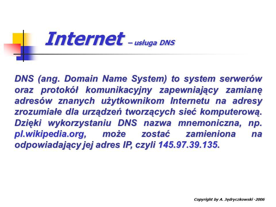 Internet – usługa DNS