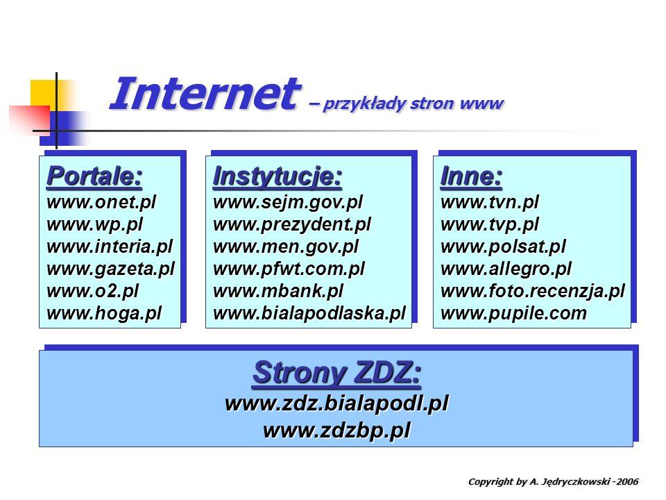 Internet – przykłady stron www