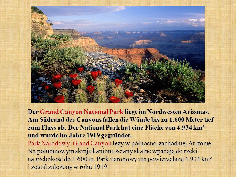 Der Grand Canyon National Park liegt im Nordwesten Arizonas