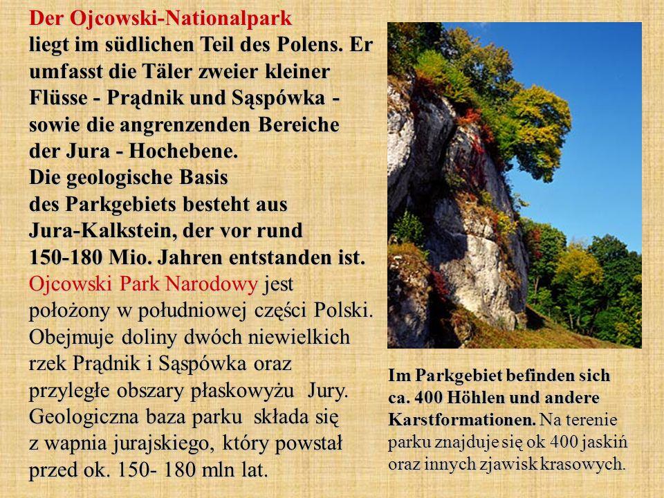 Der Ojcowski-Nationalpark liegt im südlichen Teil des Polens