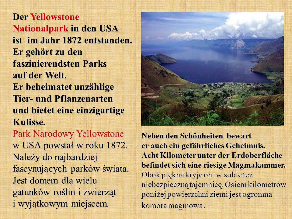 Der Yellowstone Nationalpark in den USA ist im Jahr 1872 entstanden