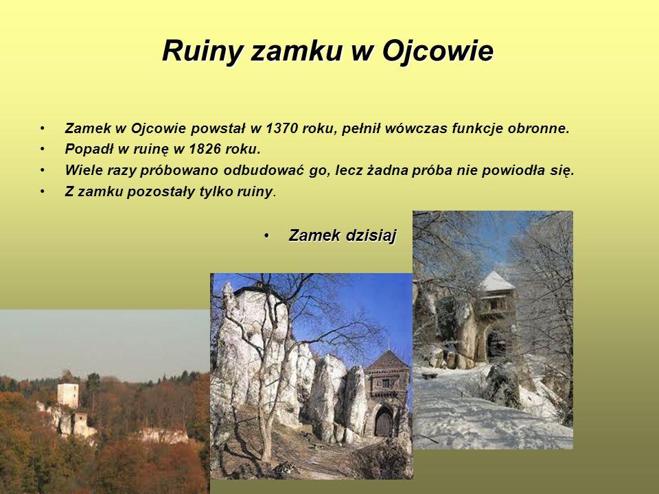 Ruiny zamku w Ojcowie Zamek dzisiaj