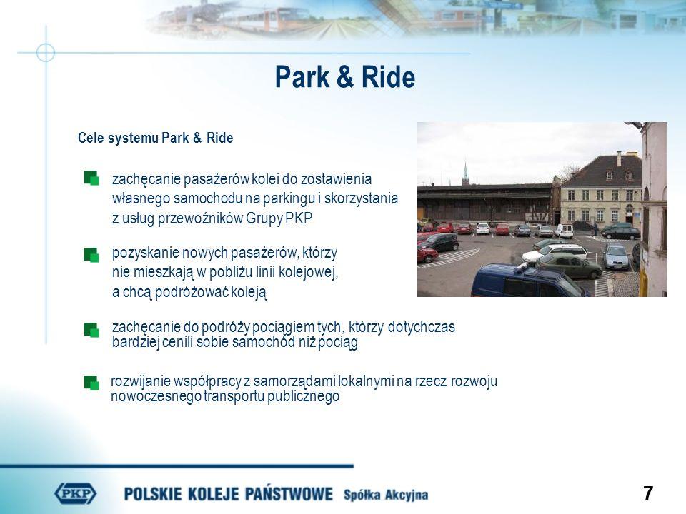 Park & Ride zachęcanie pasażerów kolei do zostawienia