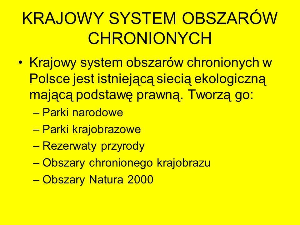 KRAJOWY SYSTEM OBSZARÓW CHRONIONYCH