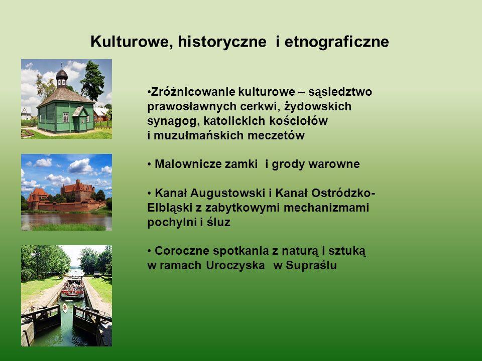 Kulturowe, historyczne i etnograficzne