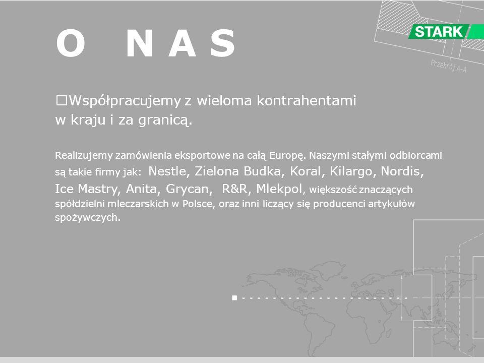 O N A S Współpracujemy z wieloma kontrahentami w kraju i za granicą.