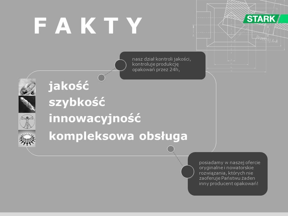 F A K T Y jakość szybkość innowacyjność kompleksowa obsługa ---------