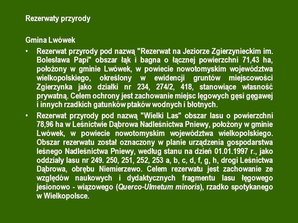 Rezerwaty przyrody Gmina Lwówek.
