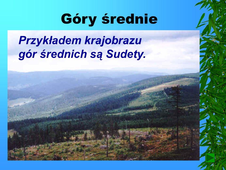 Góry średnie Przykładem krajobrazu gór średnich są Sudety. 20
