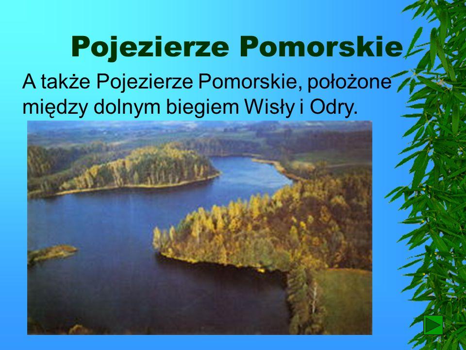 Pojezierze Pomorskie A także Pojezierze Pomorskie, położone między dolnym biegiem Wisły i Odry. 68