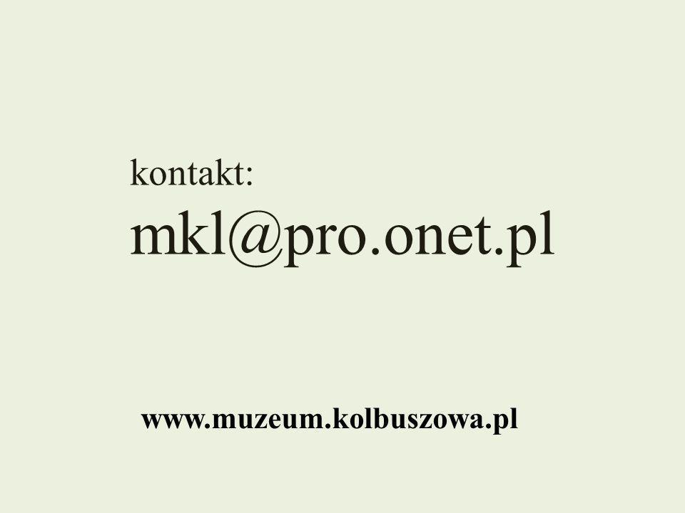 kontakt: mkl@pro.onet.pl www.muzeum.kolbuszowa.pl